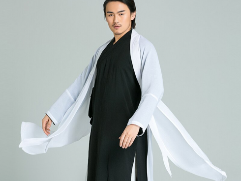 Handmade Linen Daoist Uniform Three Piece Jacket+Pants+Veil
