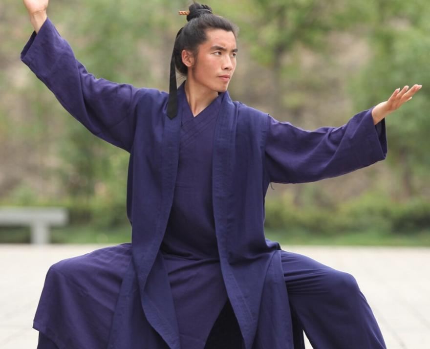 Wudang Daoist Linen 3 Pieces Monk Robe