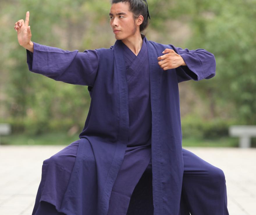 Wudang Daoist Linen 3 Pieces Monk Robe 2